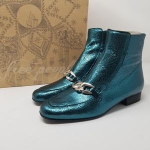 NIB Free People Green Emerald City Ankle Boots
